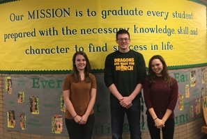 Three Students Earn Full Tuition Scholarships