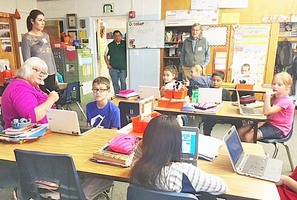 Guests Tour Holyoke Elementary