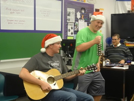 Holiday Caroling Around the School