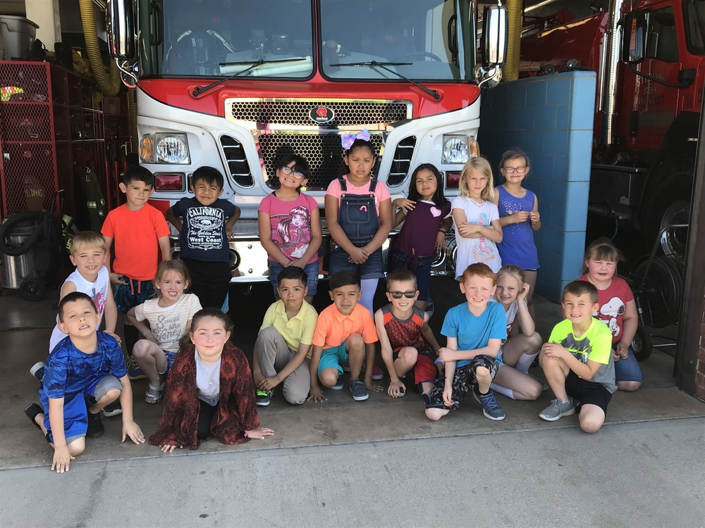 First Grade Learns About Fire Safety