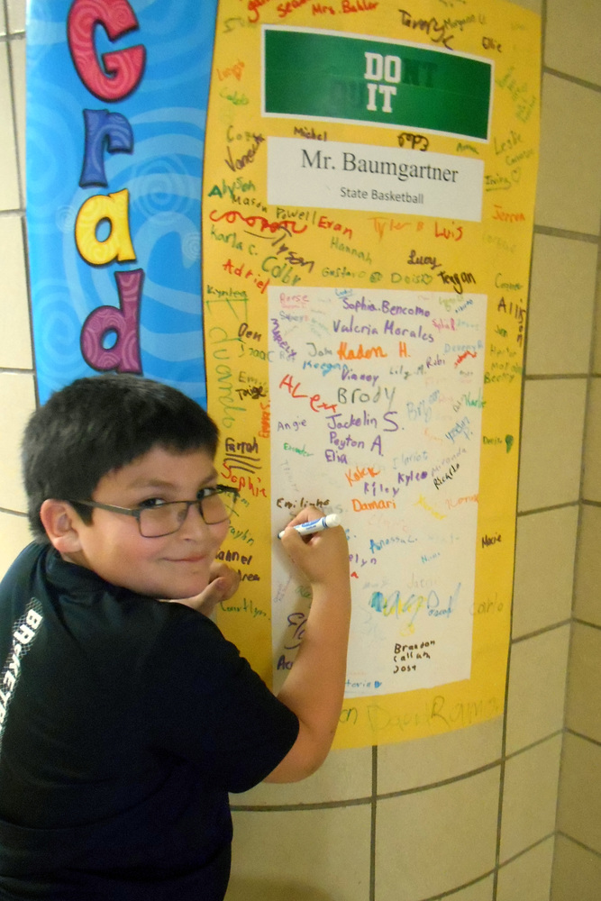Students Celebrate their Teacher's Accomplishments
