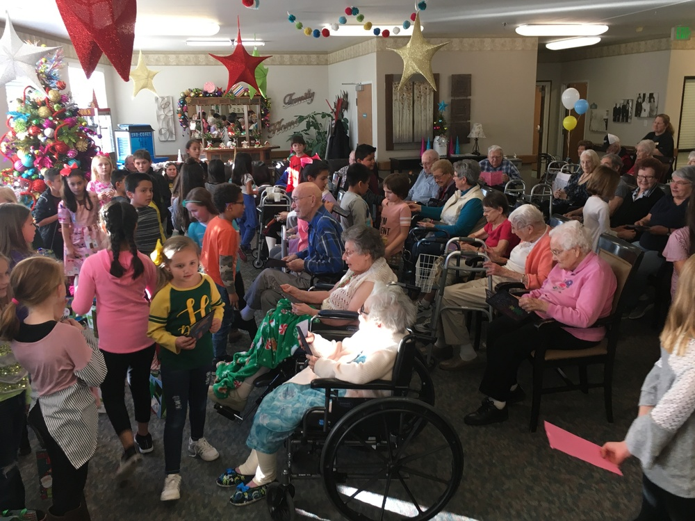 Holyoke Elementary Partners with Regent Park Nursing Home