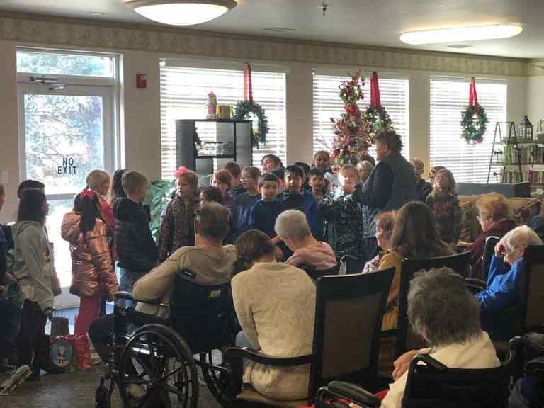 2nd Grades Students at Nursing Home