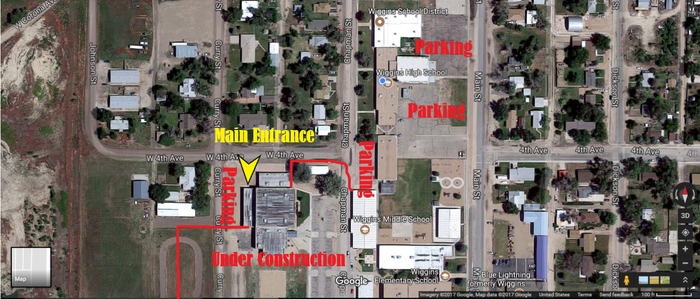 map for parking at Wiggins