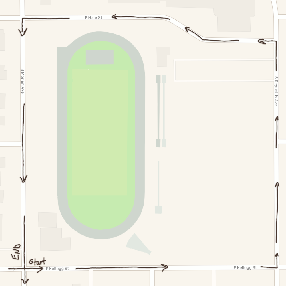map of football field