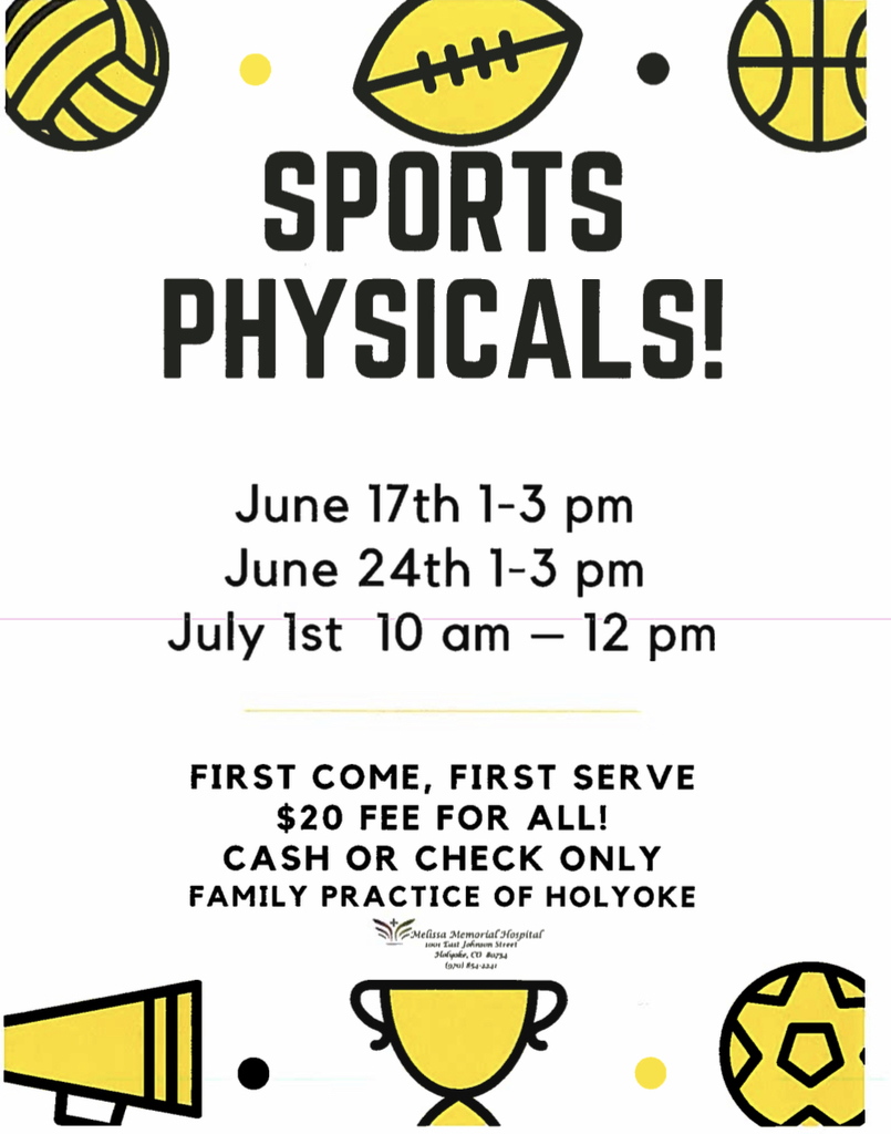 Sports physicals poster