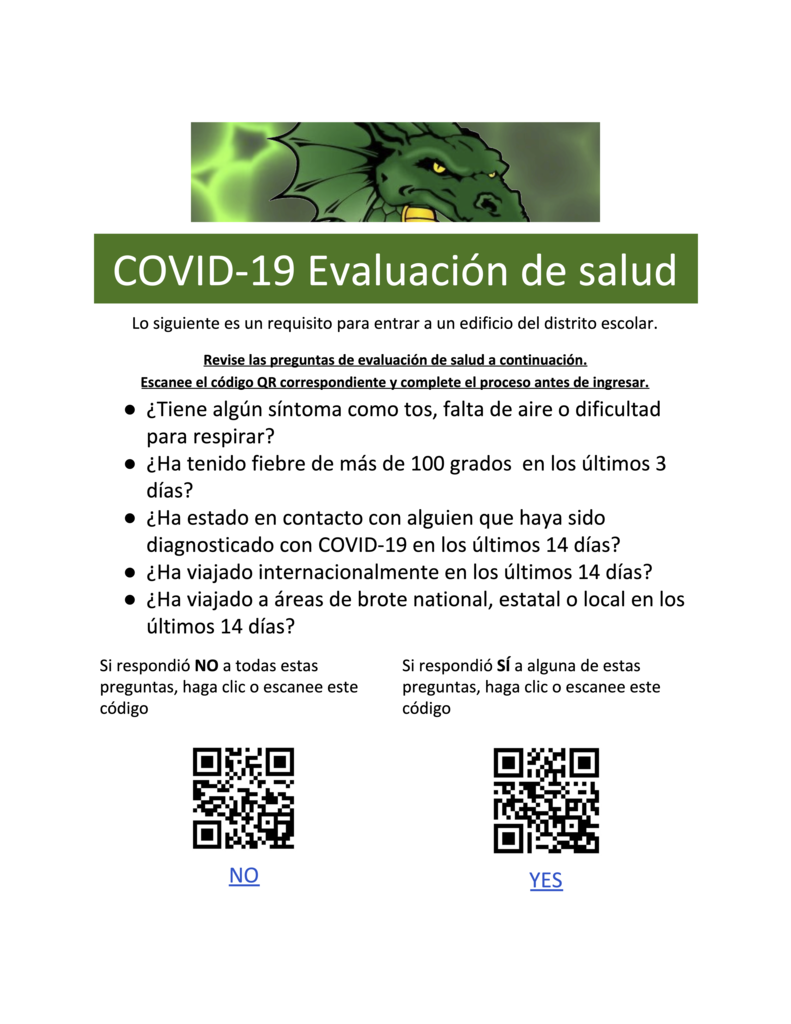 COVID-19 Health Assessment Spanish
