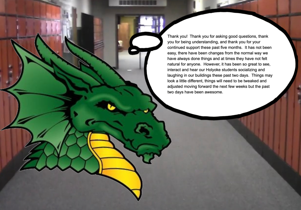Dragon saying thank you