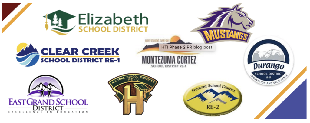 Logos of Schools receiving grants