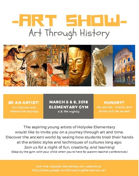 2018 Art Show - Art Through History